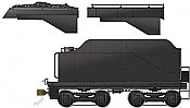 Rapido 606-602091 HO CPR D10-style Tender coming 2020