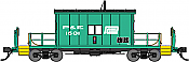 Bluford Shops HO 34210 Transfer Caboose with Short Roof - Peoria & Eastern/Penn Central #1601