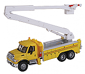 Walthers SceneMaster HO 11752 International(R) 4300 Utility Truck w/Bucket Lift  - Assembled- Yellow