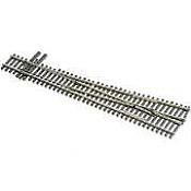 Peco Code 83 SL 8382 Streamline #8 Insulfrog Turnout - Nickel Silver Left Hand, Insulfrog HO Scale Track