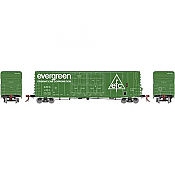 Athearn Genesis G87969 HO 50 Ft PC&F Box/8 Ft & 8 Ft YSD Plug, Evergreen #3550