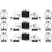 Athearn Genesis G17878 HO - 13K Gallon Acid Tank - NATX (3pk)