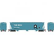 Athearn Genesis G15824 - HO ACF 4600 3-Bay Centerflow Hopper - The Rock #800302