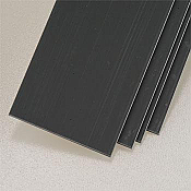 Plastruct 90366 ABS 1-1.25inch Strip Stock Dark Grey (4pcs pkg)