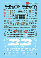 Microscale Railroad Decal Set 87-515 HO Assorted 50' Airslide Covered Hoppers