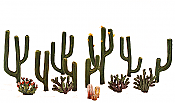 Woodland Scenics 3600 All Scale - Woodland Classics - Ready Made Trees - Cactus Plants pkg(13)