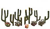 Woodland Scenics 3600 All Scale - Woodland Classics - Ready Made Trees - Cactus Plants pkg(13)