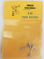 Juneco Scale Models C-58 Push Broom (4/pkg)