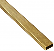 K&S Engineering 8268 All Scale - 3/16inch x 3/8inch Rectangular Brass Tube - 12inch long x 0.014inch Thick