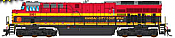 Intermountain 497107S-07 - HO ET44 Tier 4 - DCC & Sound - Kansas City Southern #5012