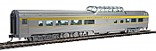 Walthers Mainline 30406 HO - 85ft Budd Dome Coach - Ready to Run - Delaware & Hudson (silver, blue, yellow)