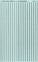 Microscale 91104 HO Scale - Striping - 3In and 4¾In widths - Silver - Waterslide Decal