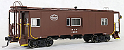 Tangent Scale Models 60121-02 - HO N7 Class Steel Bay Window Caboose - Boston & Albany (Delivery Brown w/ White Logo 1949+) #1302