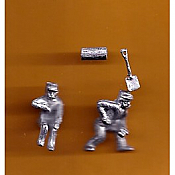 Juneco Scale Models C-105 - 1890 Engineer and Fireman - 2 Unpainted Figures