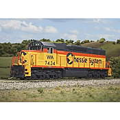 Atlas 10002785 HO - SD35 Low Nose - DCC & Sound - Master Gold - Chessie [WM] #7434