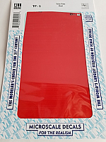 Microscale TF-5 - Trim Film - Red 1795MS 4½ in x 7½ inch sheet - Waterslide Decal