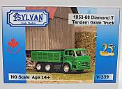Sylvan Scale Models 339 HO Scale - 1953/68 Diamond T734 Tandem Grain Truck - Unpainted and Resin Cast Kit