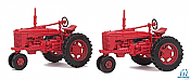 Walthers SceneMaster HO 4160 Red Farm Tractor 2pk