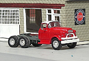 Sylvan Scale Models 322 HO Scale - 1955-57 GMC 660 Tandem Axle Tractor - Unpainted and Resin Cast Kit