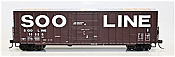 Fox Valley Models 30049 HO Soo Line Built 7 Post Boxcar Soo Line #18824