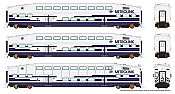Rapido 146009 HO - BiLevel Commuter Car - Metrolink - Set #1