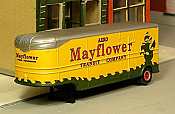 Sylvan Scale Models 008-3 HO Scale - 1947-55 32Ft Fruehauf  Aerovan w/ Mayflower Decals - Unpainted and Resin Cast Kit