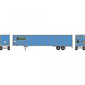 Athearn RTR 72795 - HO 53ft Wabash Plate Trailer - Werner #91059