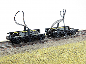 Rapido Trains Bits HO Scale Commonwealth Steam Tender Trucks with Pickups (1 pair) 606-102110