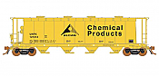Rapido 127021 HO 3800 Cubic Feet Covered Hopper - Alcan (Chemical Products/Produits Chemiques) (6 pack) - Pre-order