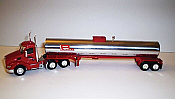 Trucks n Stuff TNS067 HO Kenworth T680 Day-Cab Tractor with Food-Grade Trailer - Assembled -- Panella Trucking (red, white, chrome)