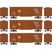 Athearn 73722 HO - RTR 40Ft Youngstown Door Box - CPR/Grain Service #2 (3pkg)