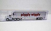 Trucks n Stuff TNS107 - HO Peterbilt 579 Day Cab Tractor - 53Ft Reefer Trailer - Piggly Wiggly