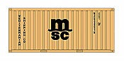 Intermountain HO 30055-2 A-Line, 20' Corrugated Containers with Corrugated Doors,  Mediterranian Shipping MSCU #s 240275, 240706