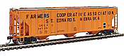 Walthers Proto 106158 - HO 55Ft Evans 4780 Covered Hopper - Farmers Cooperative Association (USLX) #26720