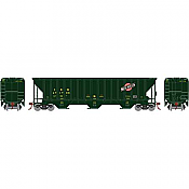 Athearn 18768 - HO RTR PS 4740 Covered Hopper, C&NW/Green 471700