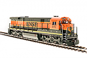 Broadway Limited Imports HO 4407 GE C30-7, BNSF #5177, Green and Orange w/Paragon3 Sound/DC/DCC