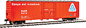 Walthers Mainline HO 2043 - 50 Ft FGE Insulated Boxcar - Bangor & Aroostook #9080