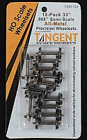 Tangent Scale Models HO 120 33in Semi-Scale All Metal Precision Wheelsets -12pack