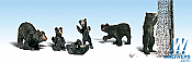 Woodland Scenics 1885 HO Scale - Scenic Accents - Black Bears - pkg (6)