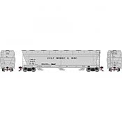 Athearn Genesis G15858 - HO ACF 4600 3-Bay Centerflow Hopper - Gulf Mobile & Ohio #81025