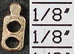 Detail Associates Dual Headlight Brass w/Vertical Shield