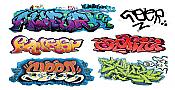 T2 Decals HOGRAF042 - HO Graffiti Decals - Set #42