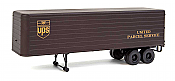 Walthers SceneMaster 2428 - HO 35ft Fluted-Side Trailer - United Parcel Service (2pk)