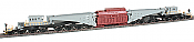 Bachmann Industries Spectrum 380-Ton Schnabel Car w/Transformer Load - Ready to Run - Gary, Black, Red Load, Black Trucks