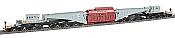 Bachmann Industries Spectrum 380-Ton Schnabel Car w/Transformer Load - Ready to Run - Gary, Black, Red Load, Black Trucks