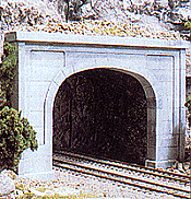 Woodland Scenics 1256 HO Tunnel Portal (Hydrocal Plaster Casting) Concrete Portal - Double Track  - One Unit