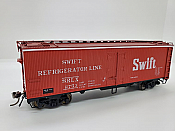 Rapido Trains 121059-1 - HO 37ft General American Meat Reefer - Swift (Red) #2573