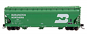 Intermountain 67001-61 - N ACF 4650 Cubic Ft. 3-Bay Hoppers - Burlington Northern #446481