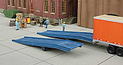 Walthers 4130 HO Cornerstone Loading Ramps - pkg(2)