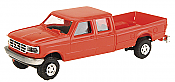 Trident Miniatures 900781 HO Trucks - Ford F-350 Crew Cab Pick-Up - White